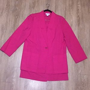 Jackets & Blazers - Hot Pink Midi Skirt Suit